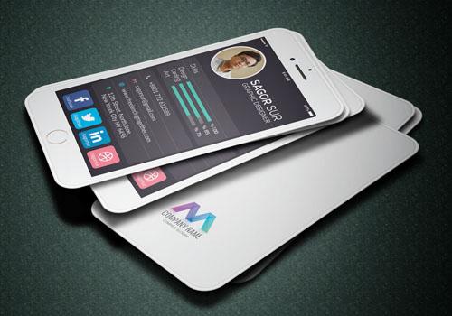 Card visit phong cách Iphone