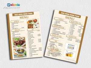 In menu tại Đào Tấn, Kim Mã, Đội Cấn, Bưởi, Thái Hà, Ba Đình Hà Nội