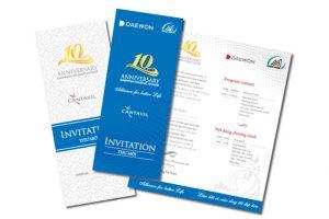 Bảng giá in Thiệp mời, thiệp cưới
