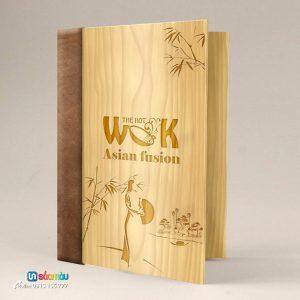 Quyển menu gỗ