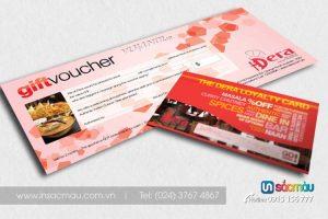 In nhanh Thẻ quà tặng, Voucher, Thẻ giảm giá lấy ngay tại Đội Cấn Ba Đình Hà Nội