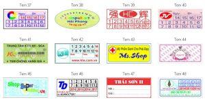 In tem bảo hành giá rẻ tại Kim Mã, Nguyễn Khánh Toàn, Cầu Giấy, Bưởi, Đào Tấn Hà Nội