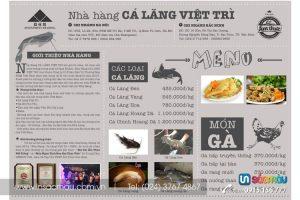 In menu lấy ngay giá rẻ tại Thái Hà, Nguyễn Khánh Toàn, Tôn Đức Thắng, Hà Nội