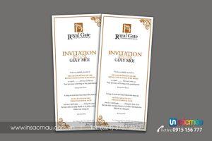 In giấy mời, thiệp mời, thư mời tại Xuân La, Xuân Đỉnh, Trần Duy Hưng Hà Nội