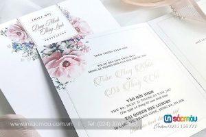 In Thiệp cưới giá rẻ lấy ngay tại Hà Nội